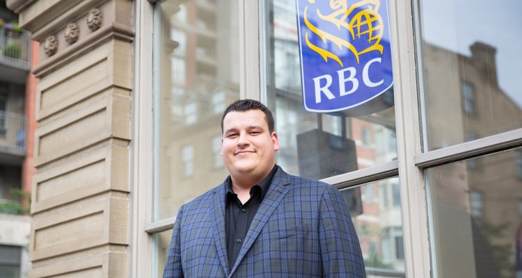 Youth standing in front of RBC