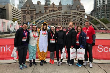 Foundation staff at Scotiabank Toronto Waterfront Marathon