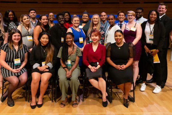 Group of graduates with President and CEO, Valerie McMurtry and CityLine's Tracy Moore.