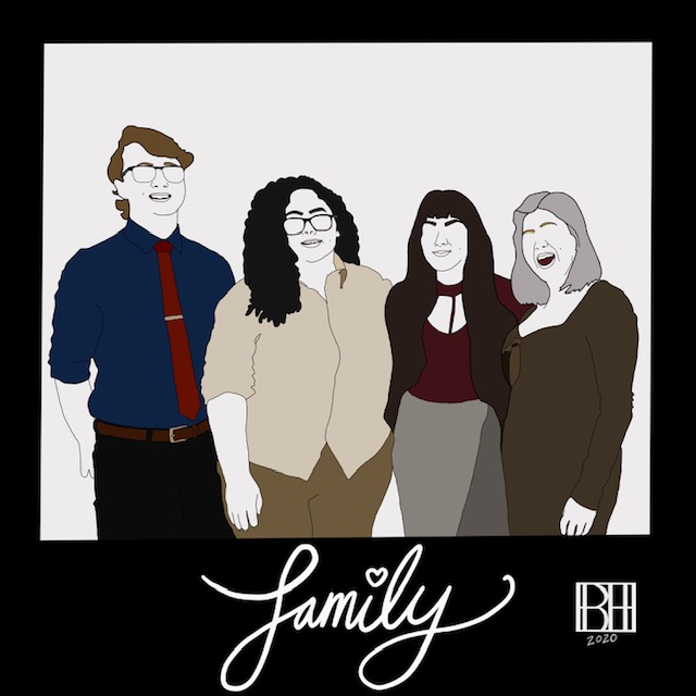 An artistic representation of BRITTANY and her chosen family