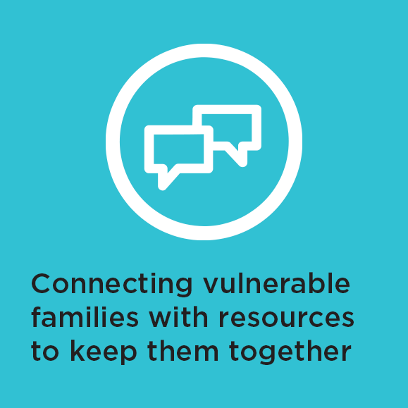 Connecting vulnerable families with resources