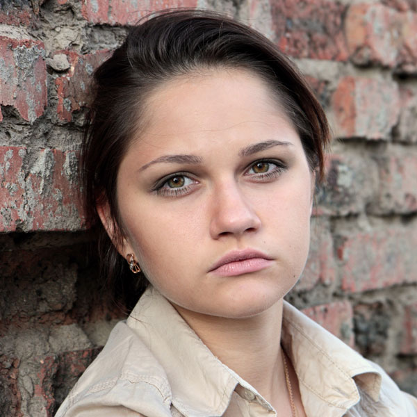 vulnerable young woman