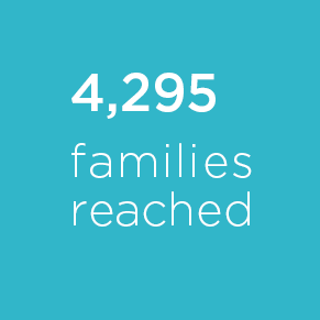 4,295 families reached