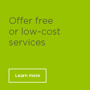 Offer free or low-cost services